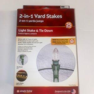 Christmas Light Yard Stakes